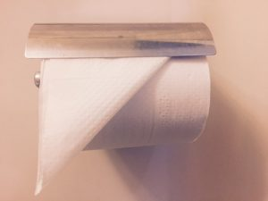 トイレットペーパーの折り方