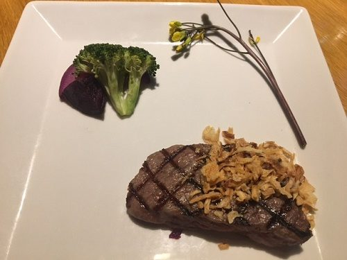 軽井沢 ロンギングハウス 信州蓼科牛ヒレ肉のグリル