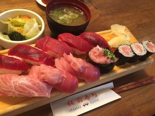板前寿司 マグロ ランチ1
